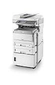 Image of a OKI MC861 A3 Colour Multifunction Printer with 2nd Tray and Tall Cabinet