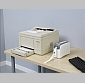 Image of a Zebra HC100 Printer compared to laser