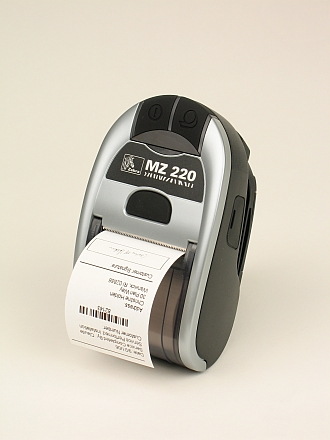 Image of a Zebra MZ220 Mobile Printer