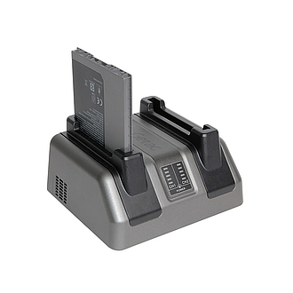 Image of a Dual-Bay Battery Charger for Getac RX10 GCMC_C