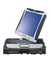 Image of a Panasonic Toughbook CF-19 Front with Display Warped