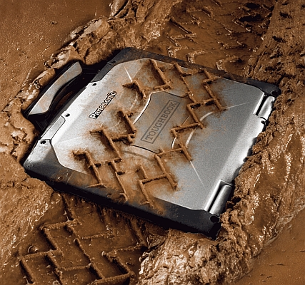 Panasonic Toughbook CF-30 run over in mud
