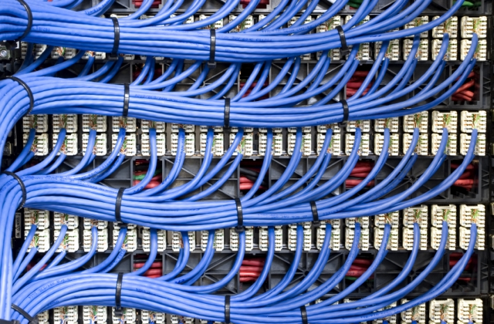 Structured Cabling Blue Data Cables